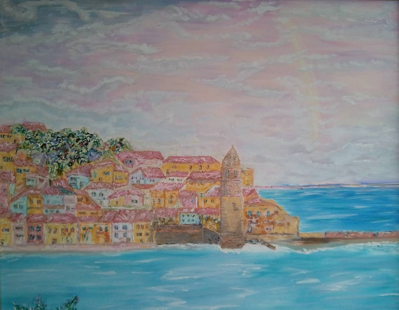 Oil painting Collioure - South of France by Gary Doll