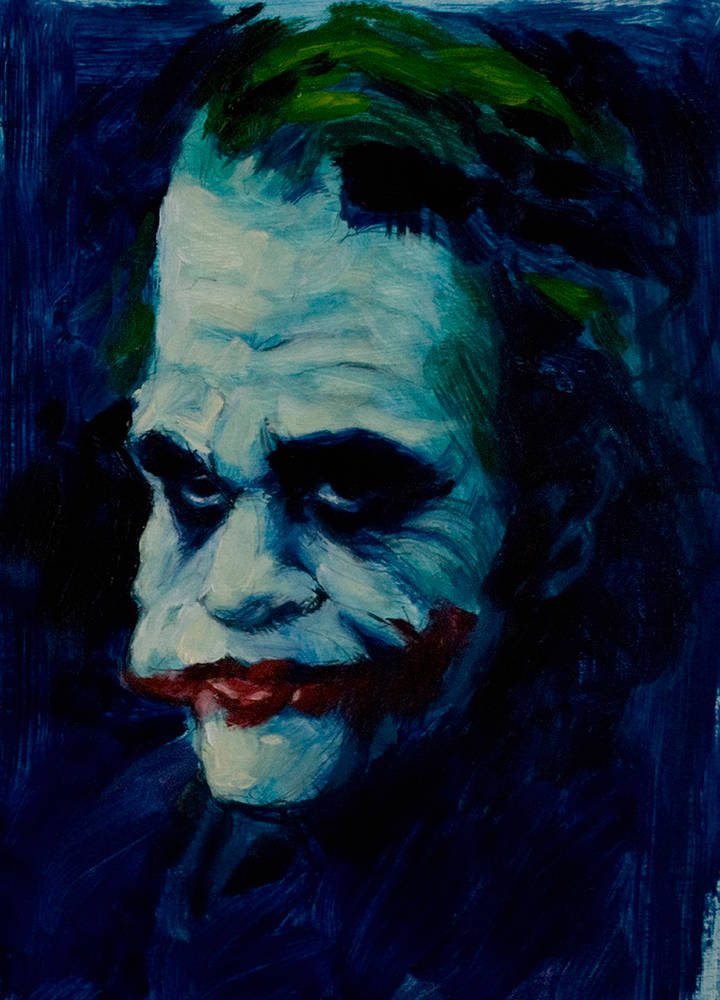 Oil painting Why So Serious?  by Hendrik Gericke