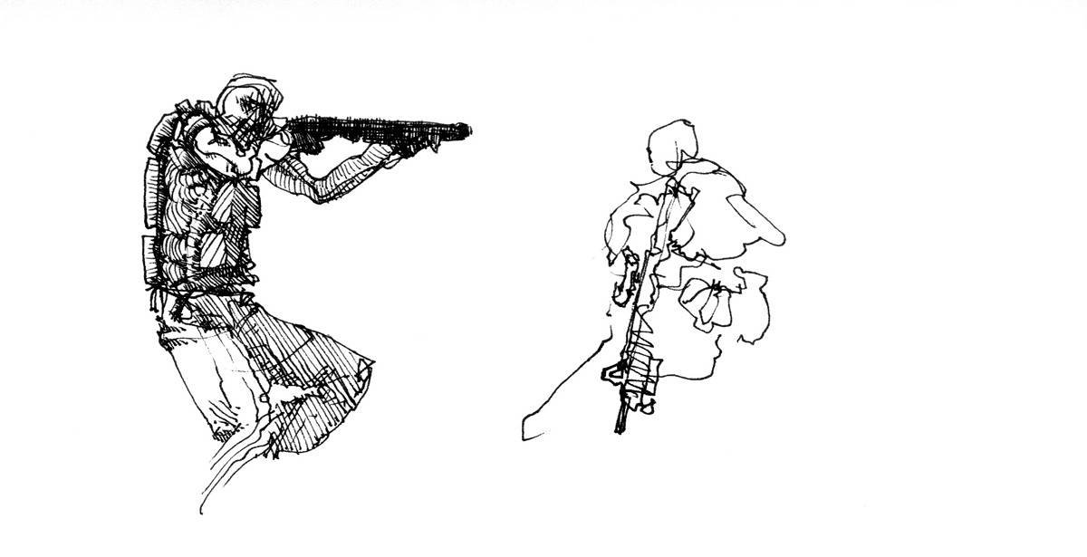 Drawing Shotguns by Hendrik Gericke