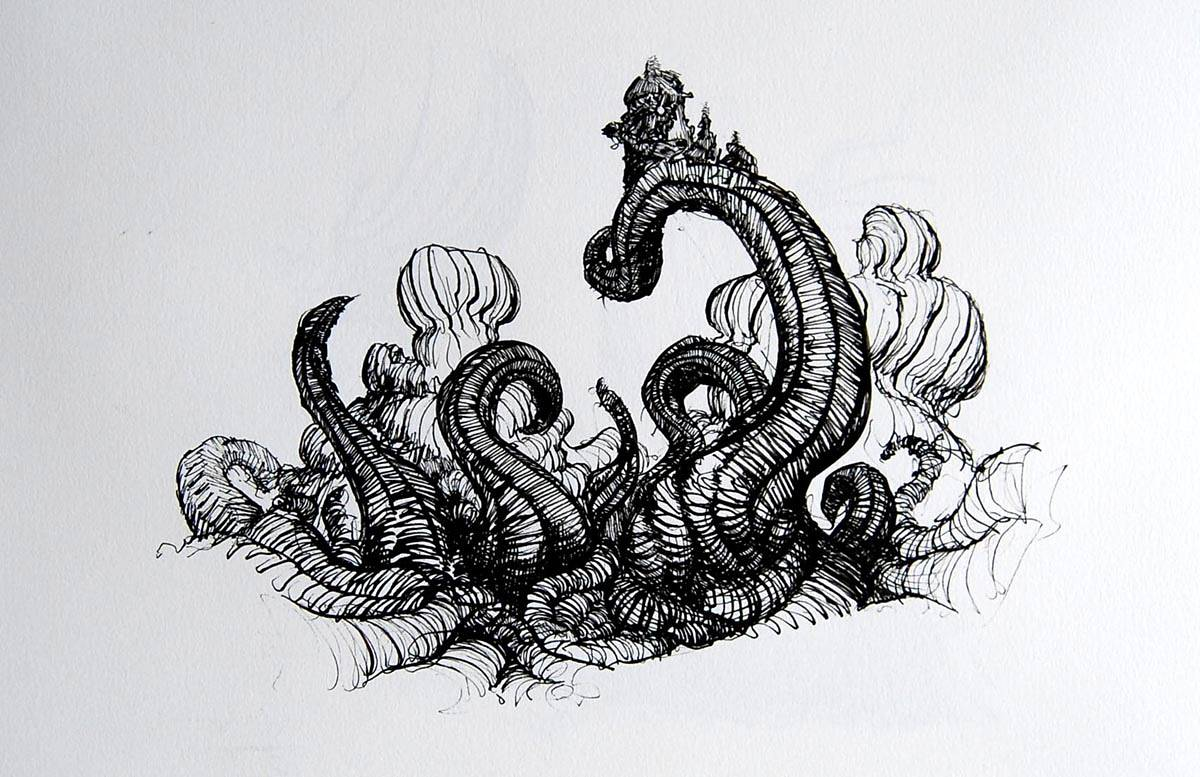 Drawing Tentacular by Hendrik Gericke