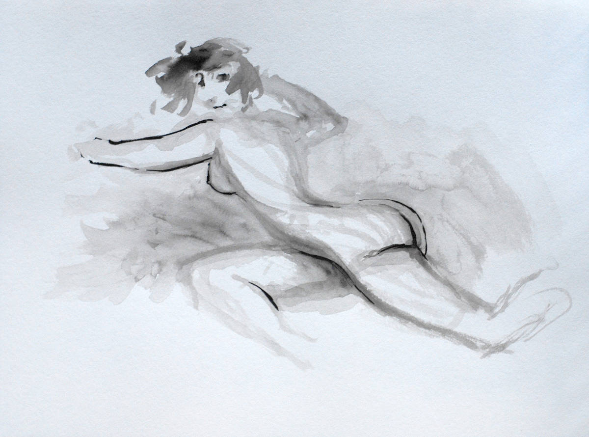 Drawing Nude by Hendrik Gericke