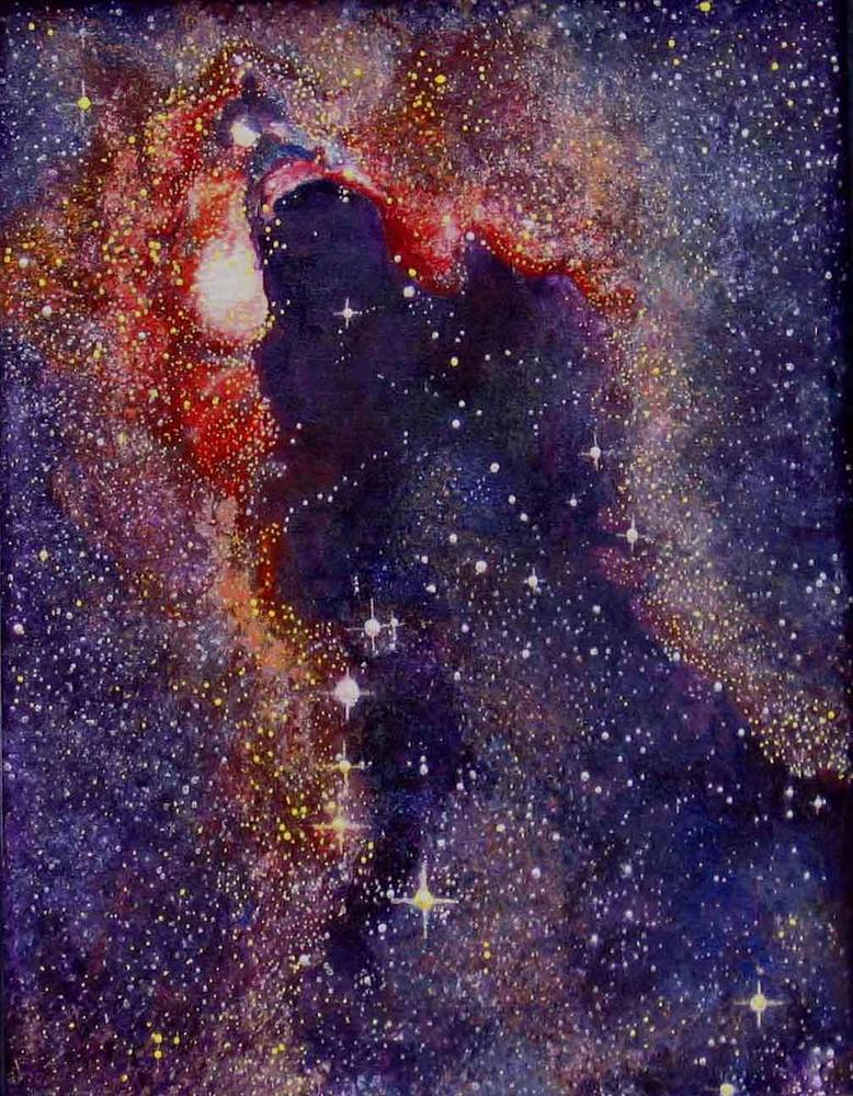 Acrylic painting TARA Dark Cloud in Scorpius I by Frederica  Hall