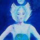 Acrylic painting She Held The Earth With The Moon Above Her Head by Frederica  Hall
