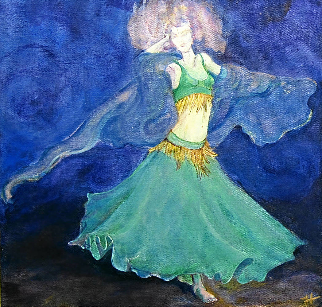 Acrylic painting Dancing in the Storm by Frederica  Hall