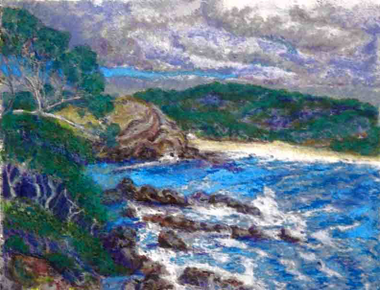 Oil painting Eden Bay Oz  by Frederica  Hall