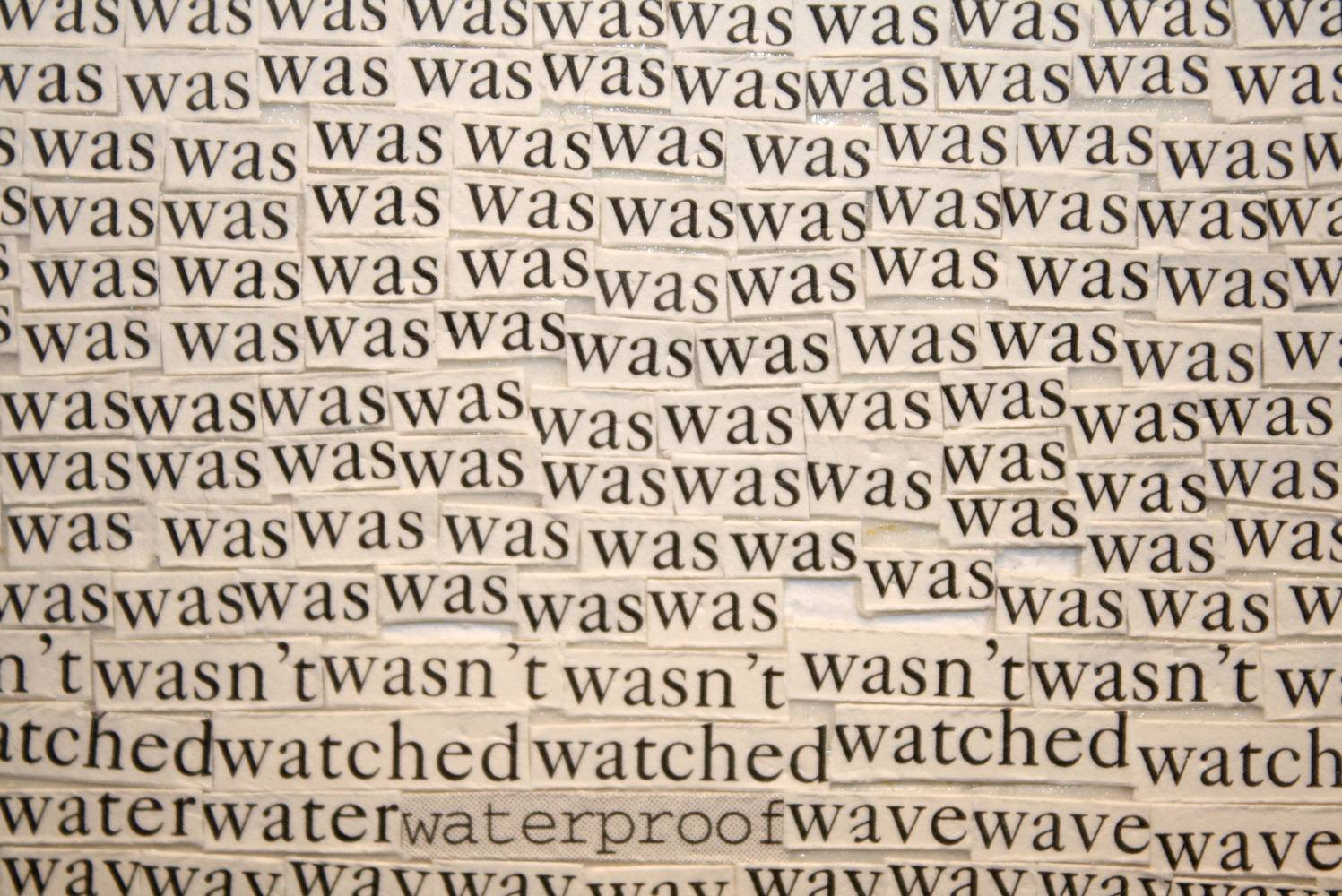 Drawing detail of 'was' page( Snicket, Lemony, A Series of Unfortunate Events: A Bad Beginning New York: HarperCollins, 1999.) by Emma Lehto