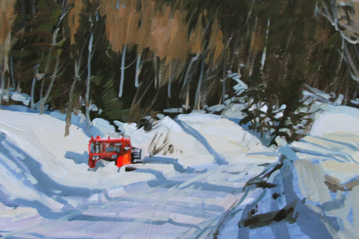 Acrylic painting Guardsman's Pass by Susette Gertsch