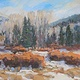 Oil painting Weber Canyon Looking East by Susette Gertsch