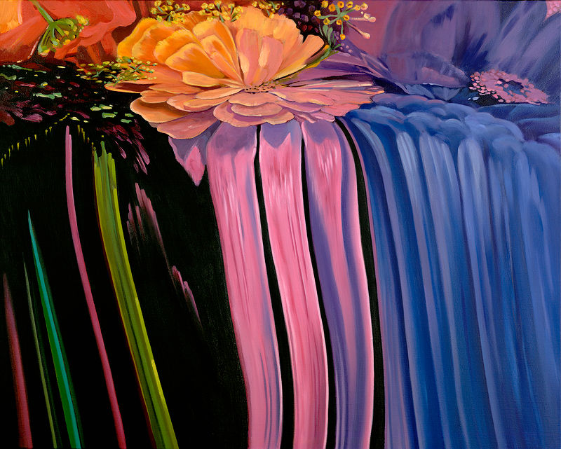 Oil painting Flowerfall III by Robert Porazinski