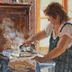 "Oil painting ""My home, my work, my life"" by Susette Gertsch"