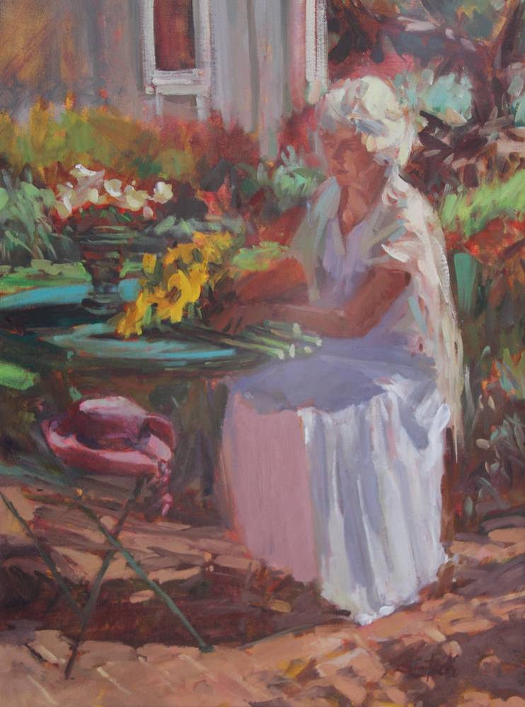 Oil painting Anna by Susette Gertsch