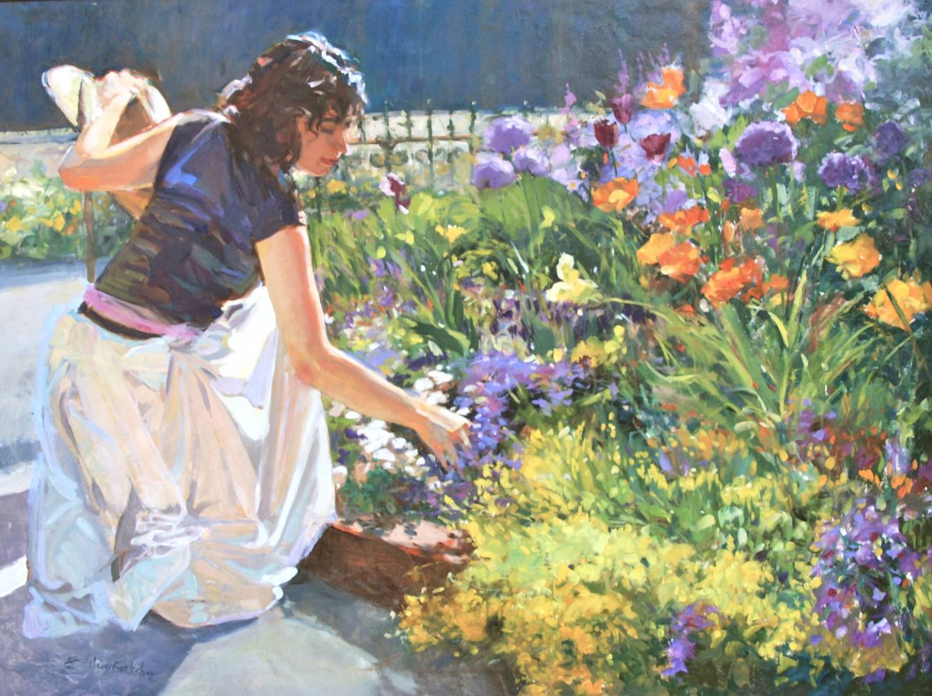 Oil painting Lion House Gardens by Susette Gertsch