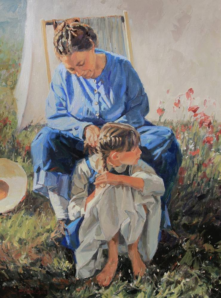Painting Mother, tell me the stories of Jesus by Susette Gertsch