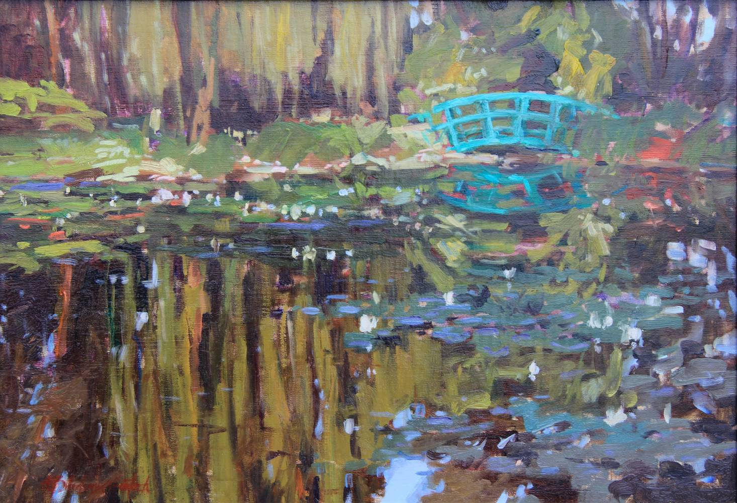 Painting Un Peu de Pont - a little bridge by Susette Gertsch