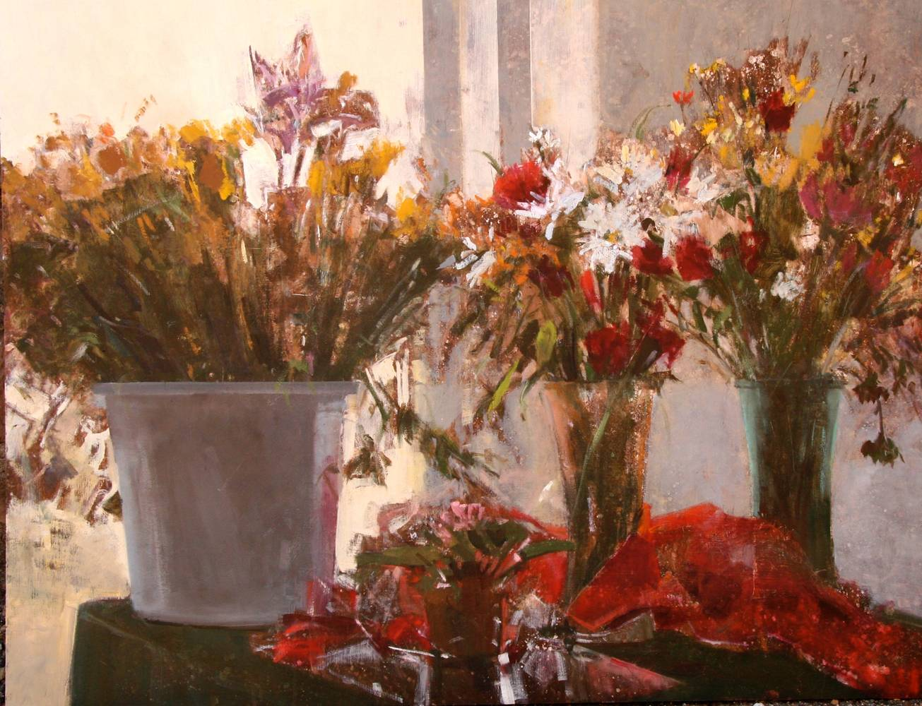 Oil painting Flower Shoppe by Susette Gertsch