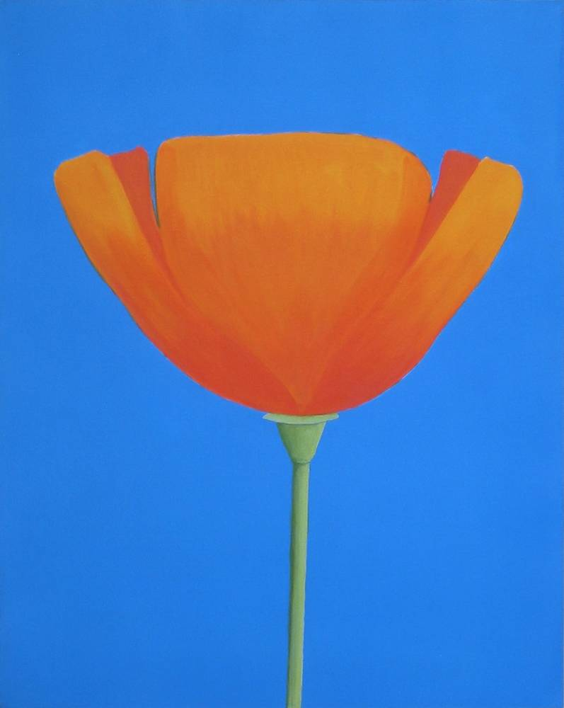 Acrylic painting Autumn Poppy by Allyson Malek