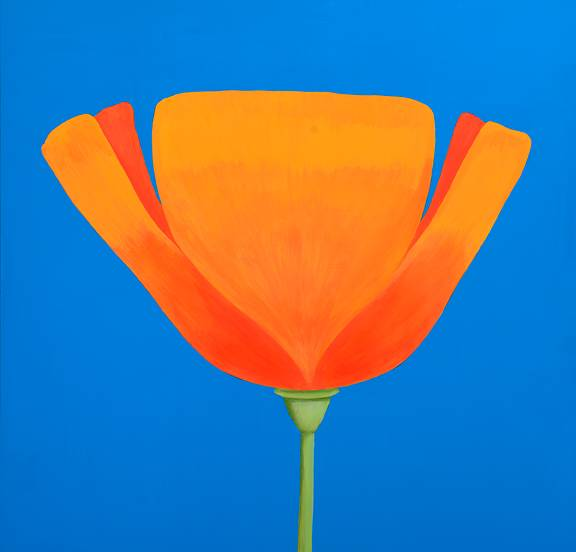 Acrylic painting Poppy Love by Allyson Malek