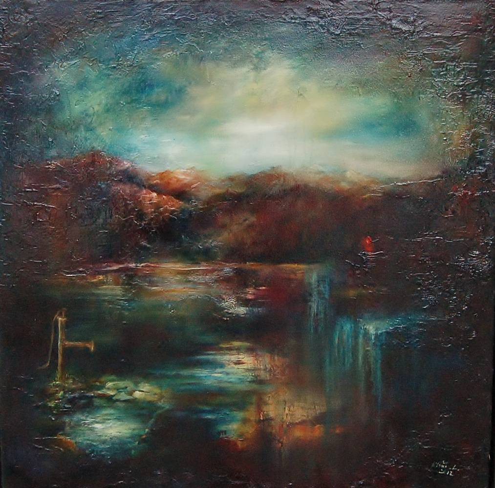 Oil painting Remembering the Source I by Liba Labik