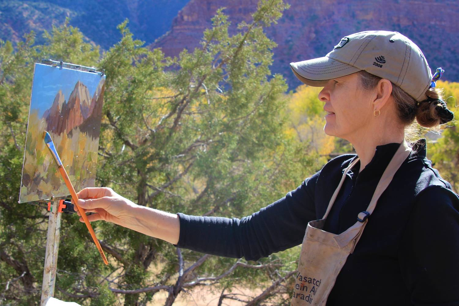 Zion's Park Plein air Paint out and competition 2013 by Susette Gertsch