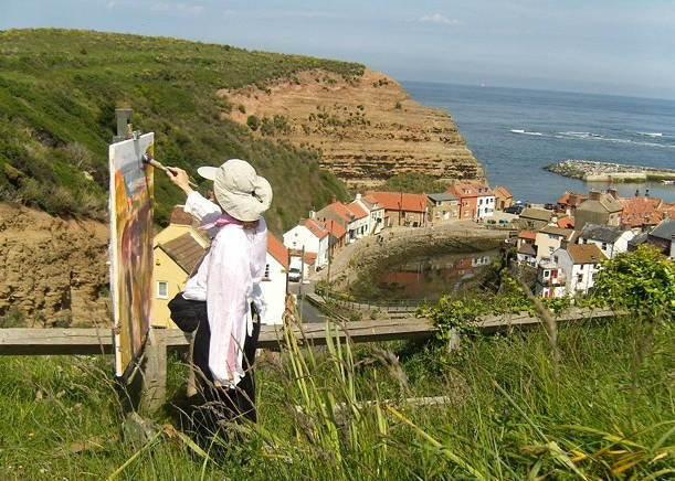 Overlooking Whitby, England by Susette Gertsch