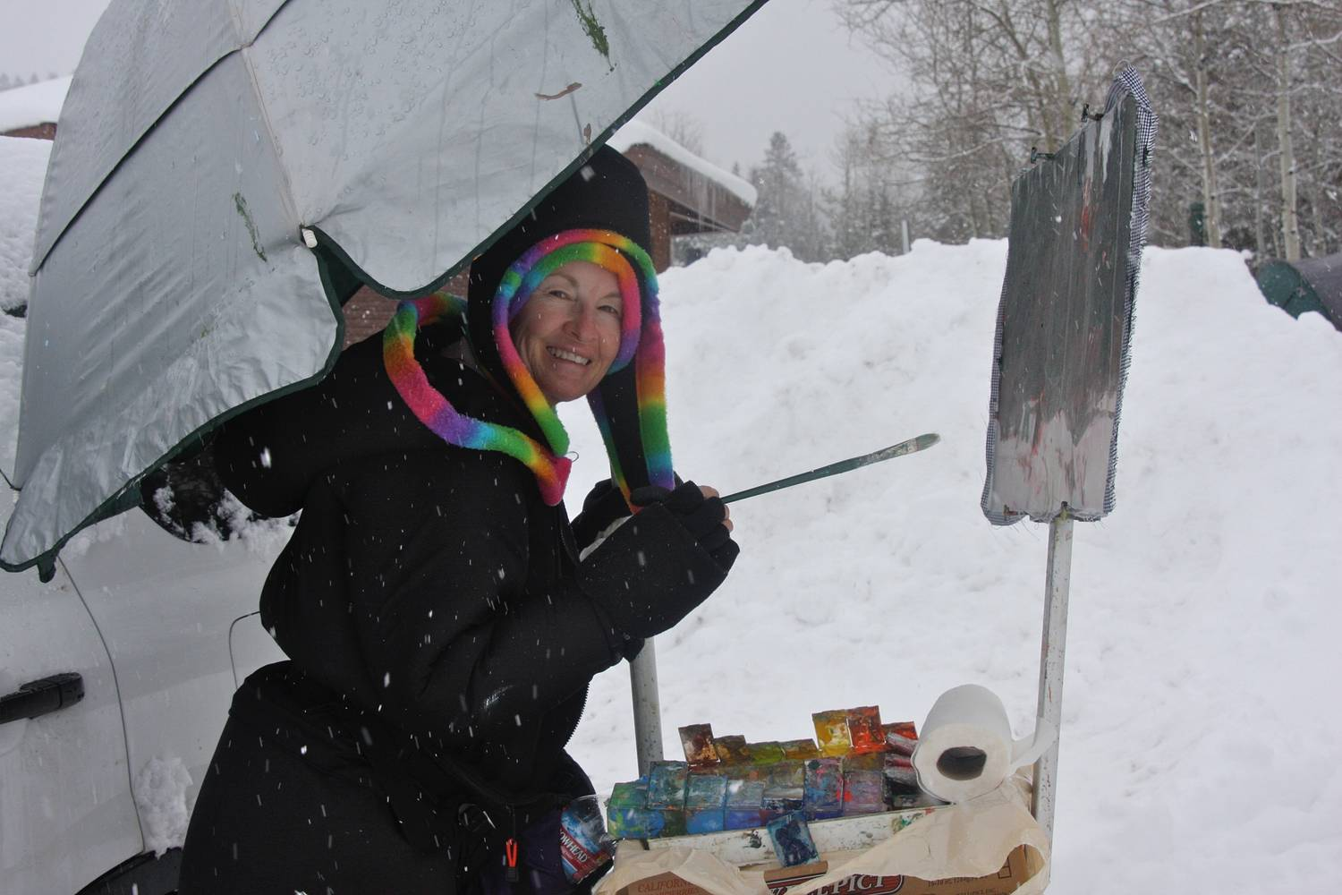 Winter Camp New Years Day - Idaho by Susette Gertsch