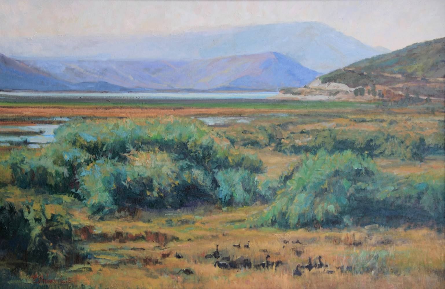 Oil painting Deer Creek View by Susette Gertsch