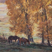 Painting September Gold by Susette Gertsch