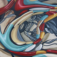 Oil painting Side Effect I by Robert Porazinski