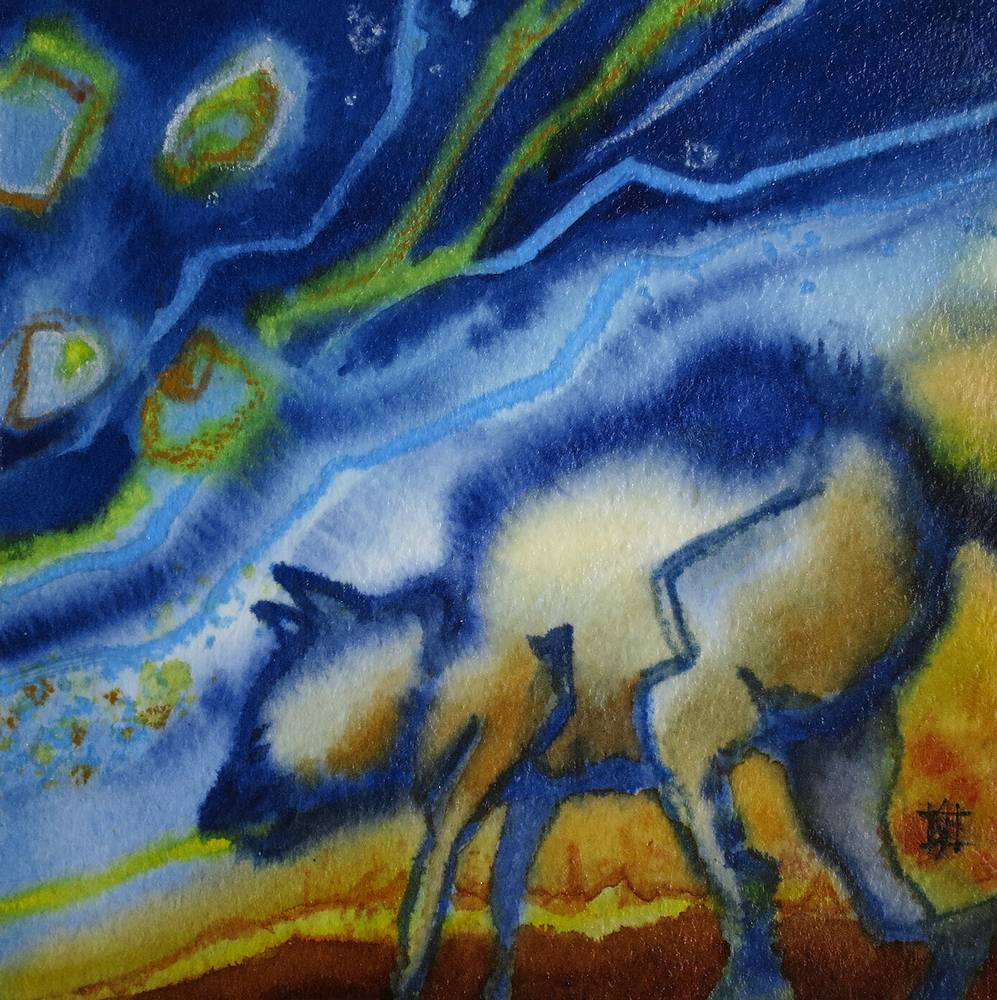 Watercolor Star Creature 2 by Lori Sokoluk