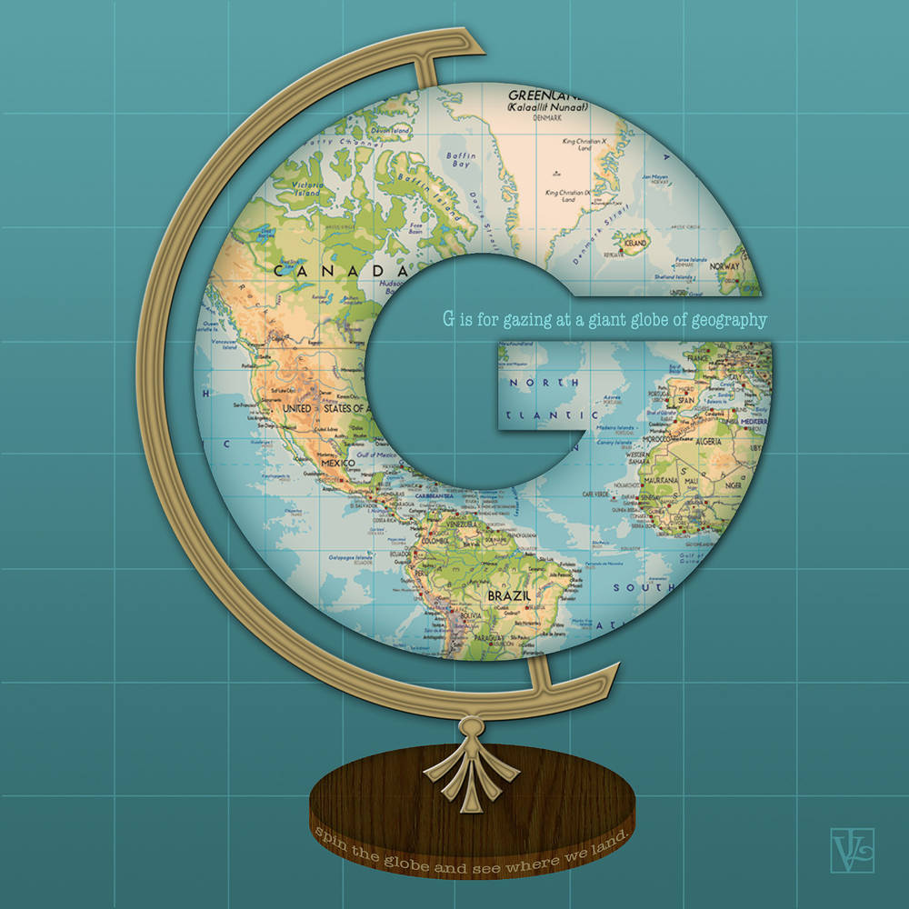 The letter G for Globe by Valerie Lesiak