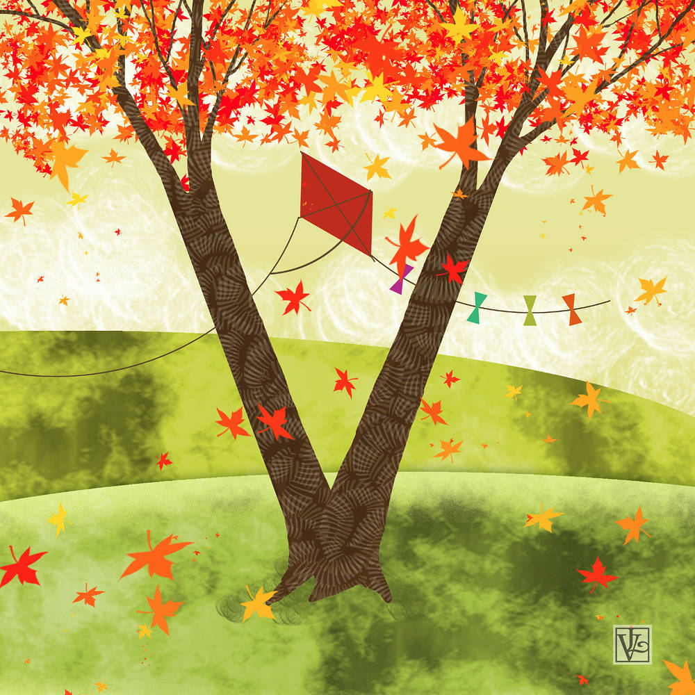The Letter V for a Very Colorful Tree by Valerie Lesiak