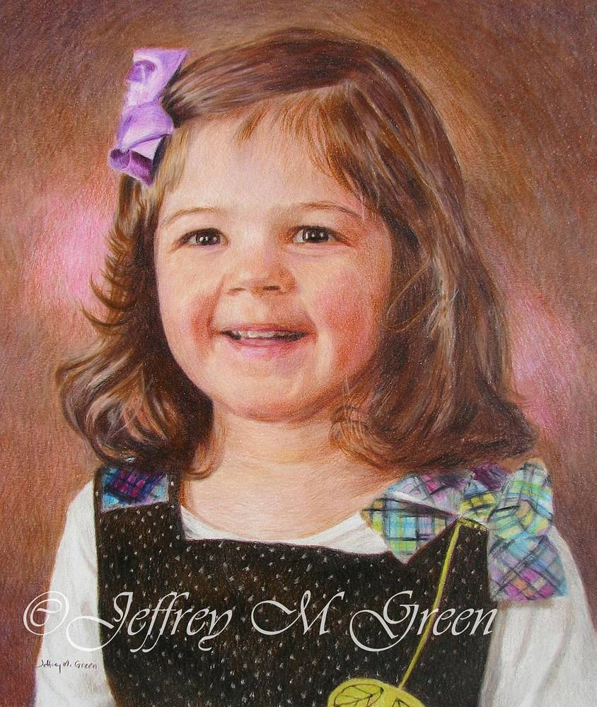 """Madeline"", 8"" x 10"", colored pencils. by Jeffrey Green"