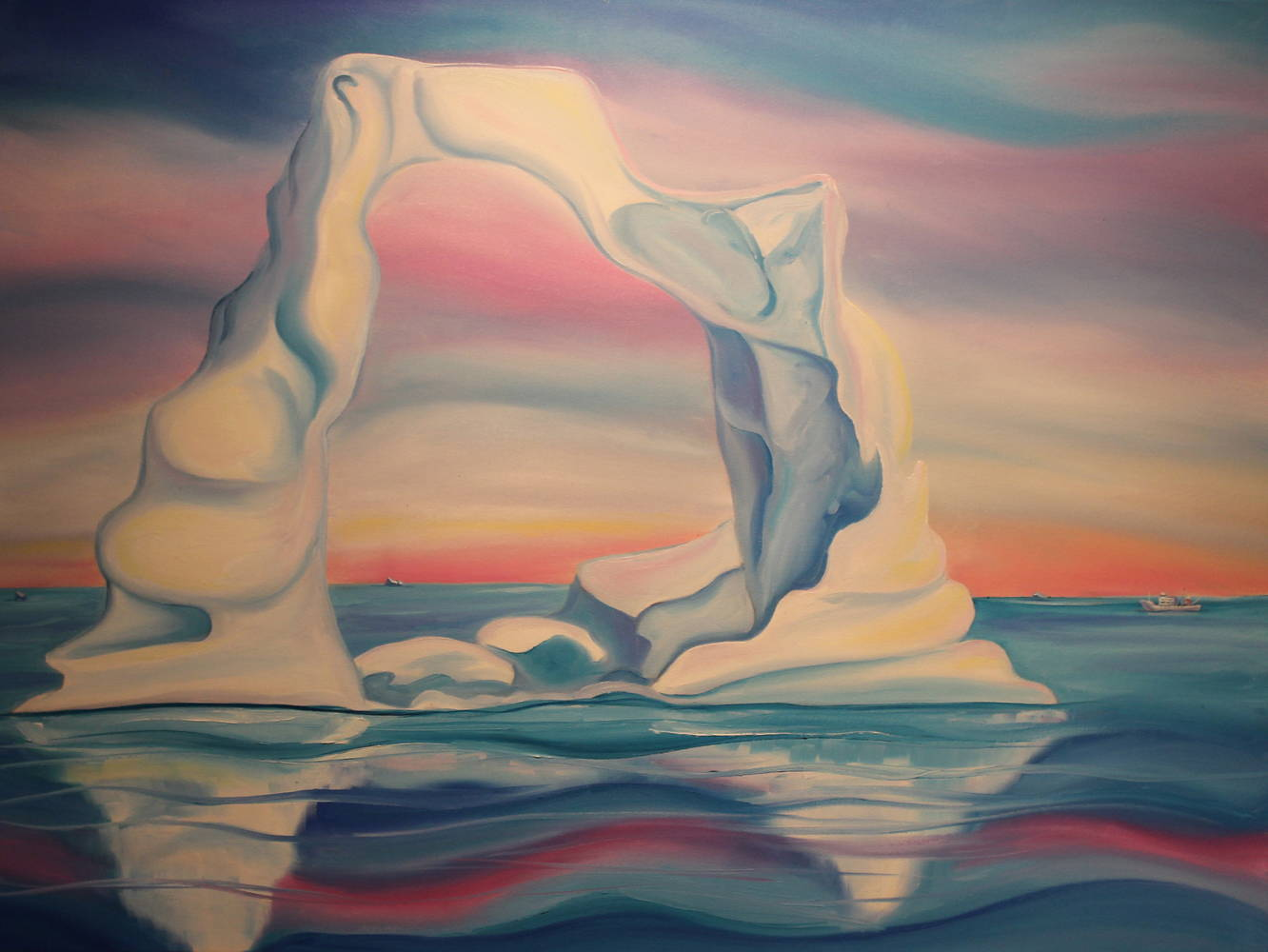 Oil painting Archway to the Arctic by Linda Lang