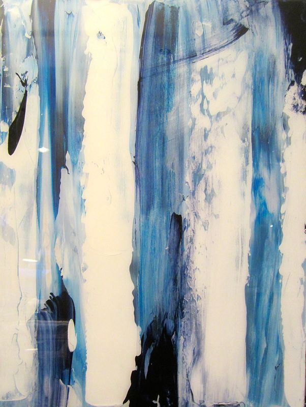Acrylic painting Glacial Interlude I by Timothy J Sullivan