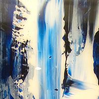 Acrylic painting Glacial Interlude III by Timothy J Sullivan