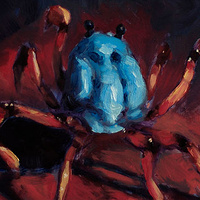 Oil painting Crab by Hendrik Gericke