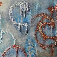 Mixed-media artwork Haunted by Karen Holland