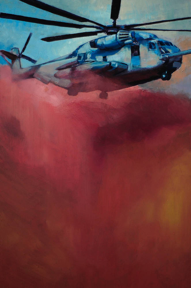 Oil painting CH-53 Stallion by Hendrik Gericke