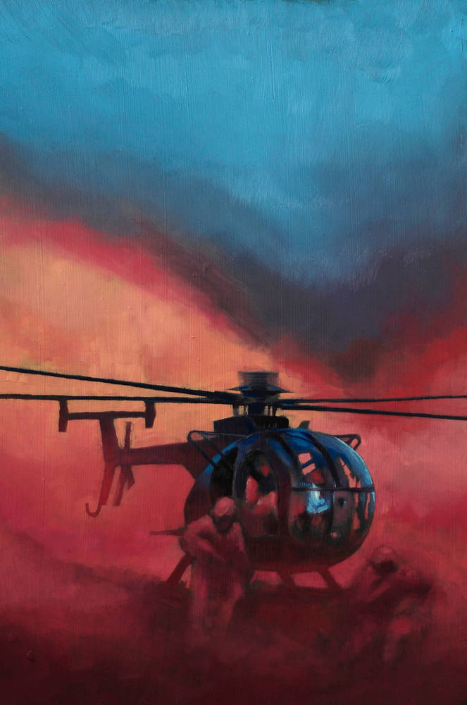 Oil painting MH-6 Little Bird by Hendrik Gericke