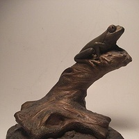 Painting Red Eye Tree Frog sculpture by Jason  Shanaman