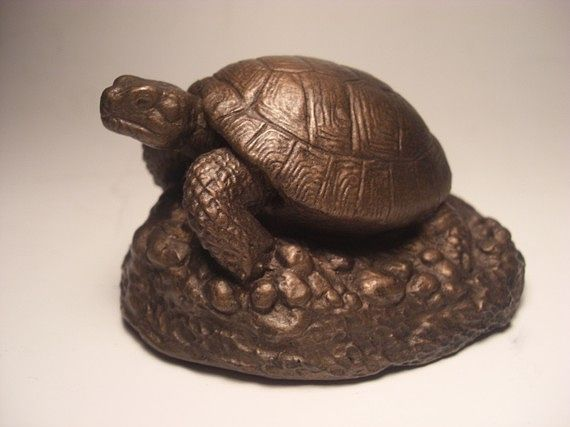 Painting Russian Tortoise sculpture by Jason  Shanaman