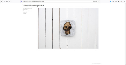 The front page of Jonathan Onyschuk's art portfolio website