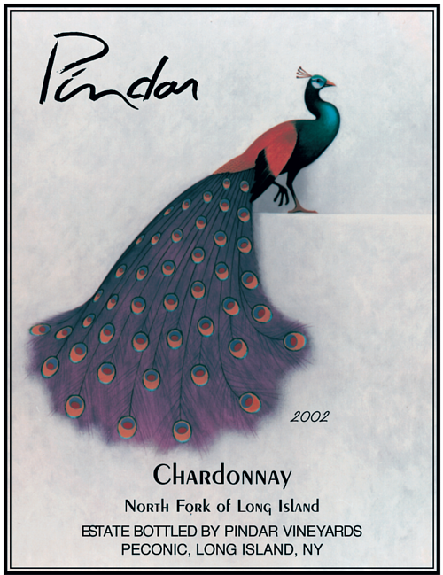 A label design for Pindar Chardonnay