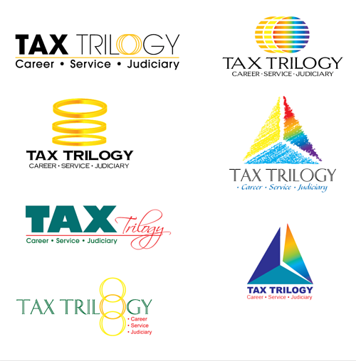 A selection of logo concepts for a tax company