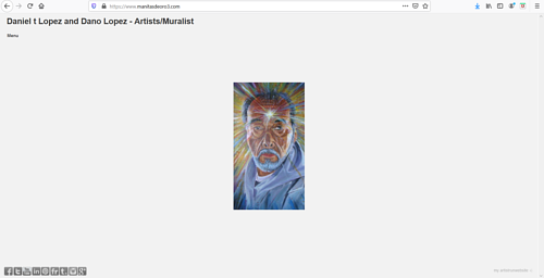 The front page of Daniel T. Lopez and Dano Lopez' art portfolio website