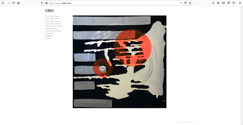 A screen capture of Catherine Bourassa-Hebert's art portfolio website
