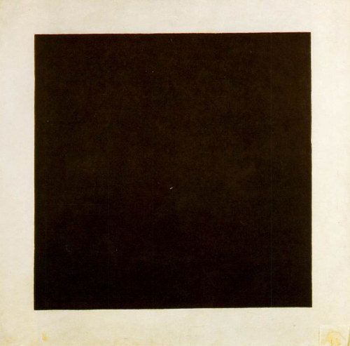 A photo of Black Square by Kazimir Malevich