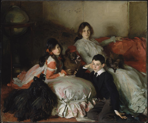 A painting of three children by John Singer Sargent