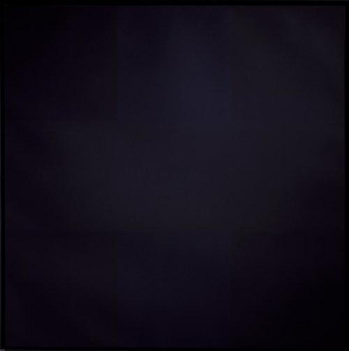 A black painting by Ad Reinhardt