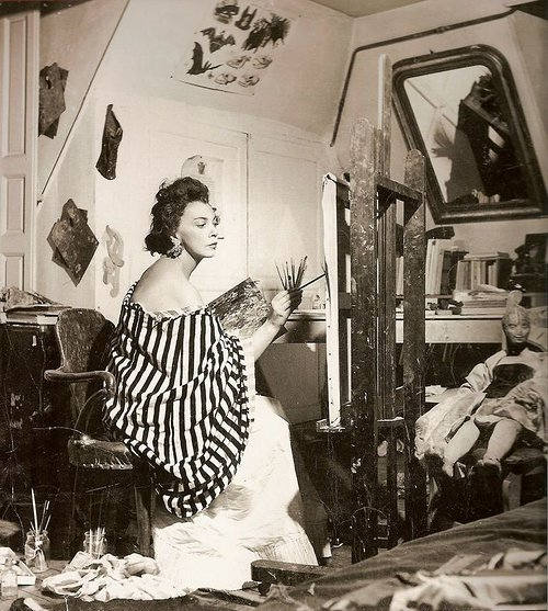 Leonor Fini in her art studio